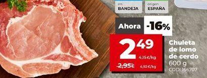 Oferta de Chuletas de lomo de cerdo por 2,49€