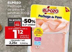 Oferta de Pechuga de pavo elpozo por 2,25€