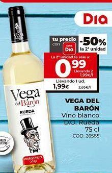 Oferta de Vino blanco Vega del Barón por 1,99€