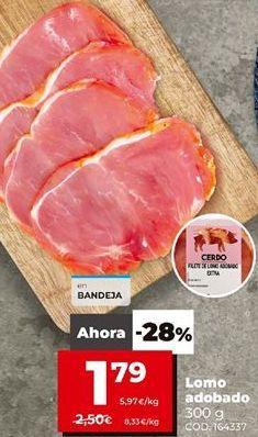 Oferta de Lomo adobado por 1,79€