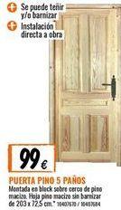 Oferta de Puerta de pino por 99€