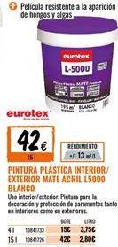 Oferta de Pintura plástica eurotex por 42€