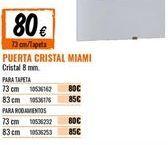Oferta de Puertas por 80€