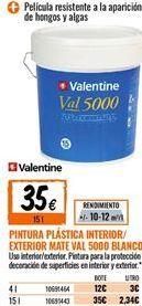 Oferta de Pintura plástica Valentine por 35€