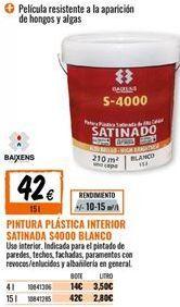 Oferta de Pintura plástica por 42€