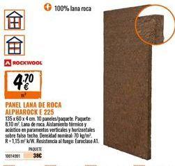 Oferta de Panel de lana de roca por 4,7€