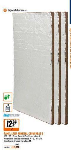Oferta de Panel de lana de vidrio por 12,84€