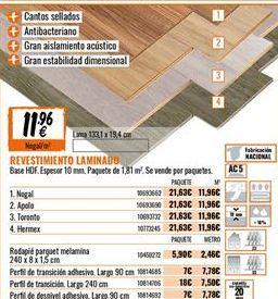 Oferta de Revestimientos por 11,96€