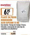 Oferta de Plaste para alisar eurotex por 6,95€