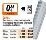 Oferta de Canal por 0,66€