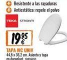 Oferta de Tapa de wc Teka por 19,95€