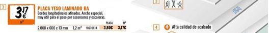 Oferta de Placas de yeso por 3,17€