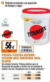 Oferta de Pintura plástica Titan por 56€