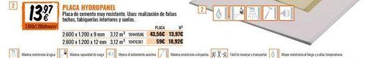 Oferta de Placas de yeso por 13,97€