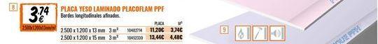 Oferta de Placas de yeso por 3,74€