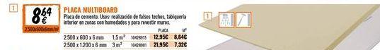 Oferta de Placas de yeso por 8,64€