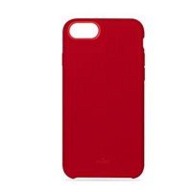 Oferta de Funda de silicona Puro Rojo para iPhone 6/6s/7/8 por 12,99€