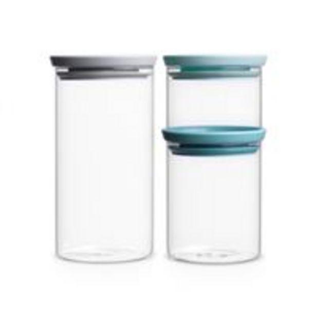 Oferta de Tarros de vidrio Brabantia 0,3; 0,6 y 1 L Kit por 16,49€