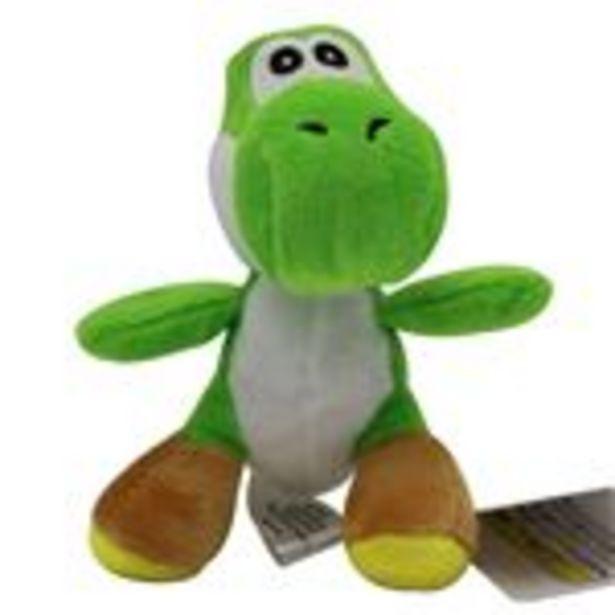 Oferta de Peluche Super Mario, Yoshi Dinosaure Vert 11cm por 15,99€