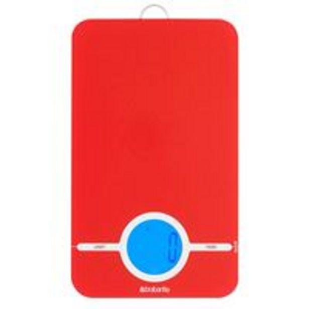 Oferta de Báscula digital de cocina Brabantia 480744 Rojo por 18,99€