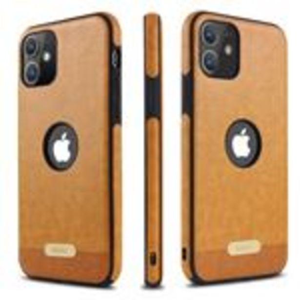 Oferta de Funda de cuero de PU anti-choque para Apple iPhone 11 (6.1) Marron por 16,5€