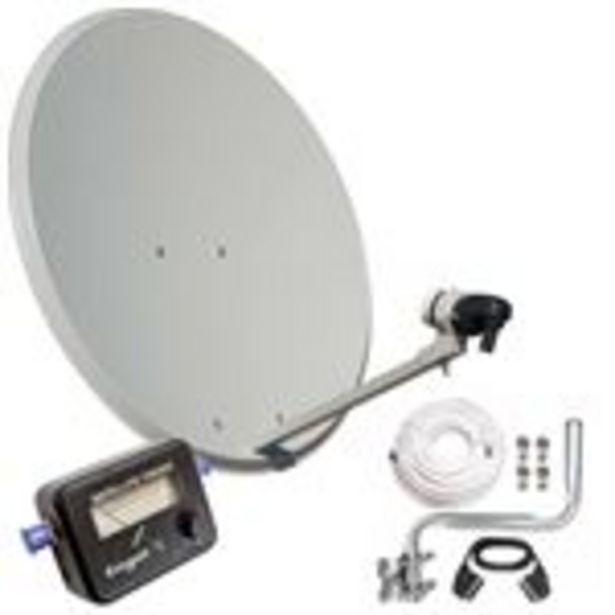 Oferta de Kit Antena Parabolica Engel 80cm+ Soporte Pared+Lnb+Localizador Satelite An0432e por 57,99€
