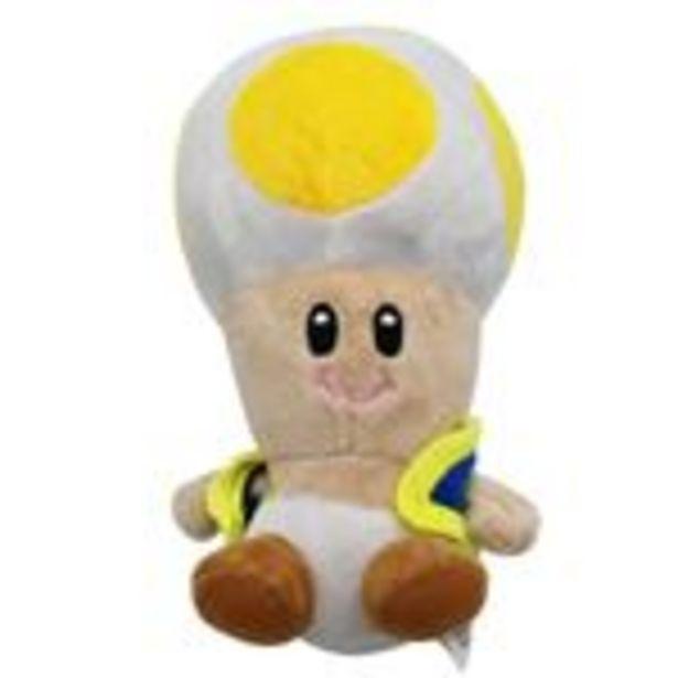 Oferta de Peluche Super Mario Champignon, Toadette Jaune 18.5cm por 16,99€