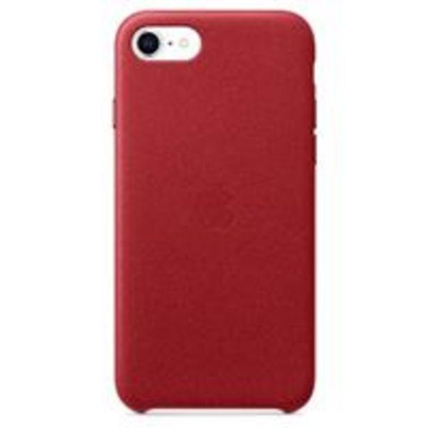 Oferta de Funda de piel Apple (PRODUCT)RED para iPhone SE (2ª Gen.) por 39,92€