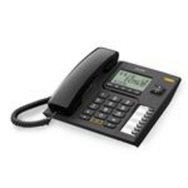 Oferta de Teléfono Alcatel CORDED T76 negro por 24,73€