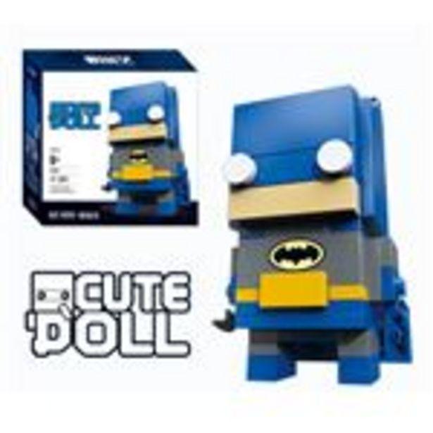 Oferta de Figura Decool CuteDool Mini 9cm Puzzle Mega Bloks DC, Batman por 9,99€