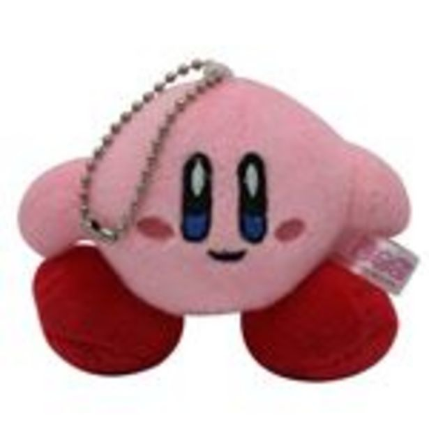 Oferta de Peluche Pendentif Kirby, Rose Souriante 8cm por 15,99€