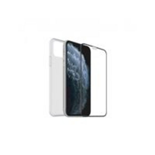 Oferta de Funda Muvit Cristal Soft Transparente + Protector de pantalla Cristal templado Marco negro para Samsung Note 10 Lite por 9,29€