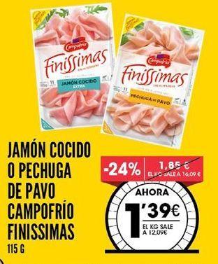 Oferta de Jamón cocido Campofrío por 1,39€