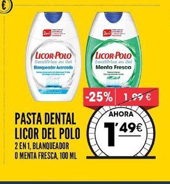 Oferta de Pasta de dientes Licor del Polo por 1,49€