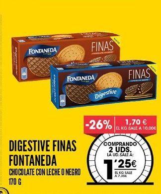 Oferta de Galletas Digestive Fontaneda por 1,25€