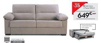 Oferta de Sofá cama 3 plazas NALA por 649€