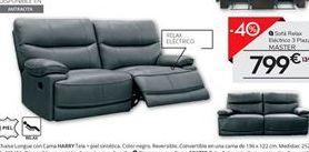 Oferta de Sofá relax eléctrico de piel 3 plazas MASTER por 799€