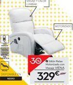 Oferta de Sillón relax motorizado con masaje VIENA por 329€