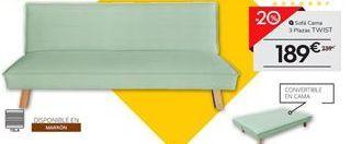 Oferta de Sofá cama 3 plazas TWIST por 189€