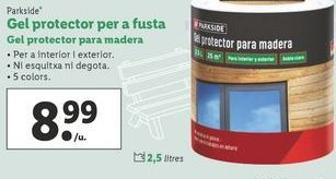Oferta de Gel protector para madera Parkside por 8,99€