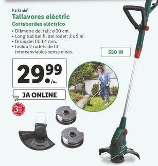 Oferta de Cortabordes eléctrico Parkside por 29,99€