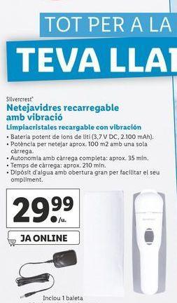 Oferta de Limpiacristales Recargable con vibración  SilverCrest por 29,99€