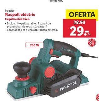Oferta de Cepillo eléctrico Parkside por 29€