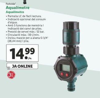 Oferta de Aqualimetro de riego Parkside por 14,99€