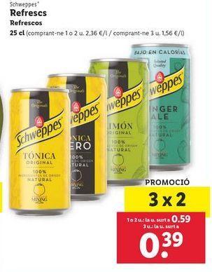 Oferta de Refrescos Schweppes por 0,59€