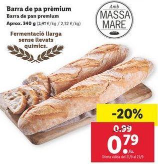 Oferta de Pan de barra premium  por 0,79€