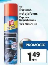 Oferta de Espuma limpiahornos W5 por 1,49€