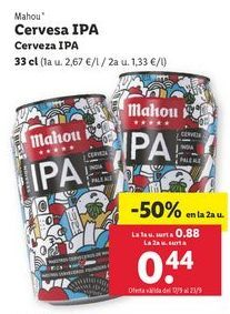 Oferta de Cerveza IPA Mahou por 0,88€