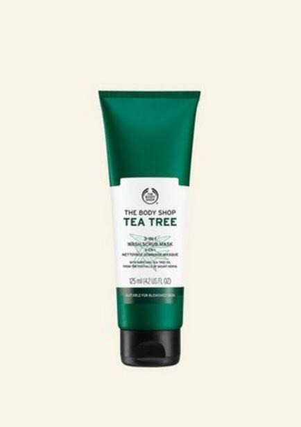 Oferta de Mascarilla Exfoliante Facial 3 En 1 Árbol De Té 125 ml por 12€