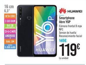 Oferta de Smartphone libre Y6P Huawei por